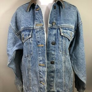 Vintage 80's EXP Express Denim Jean Jacket Sz XS